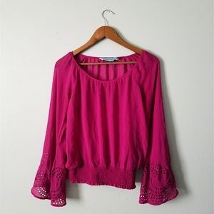 Guess by Marciano | Silk Long Sleeve Blouse Top